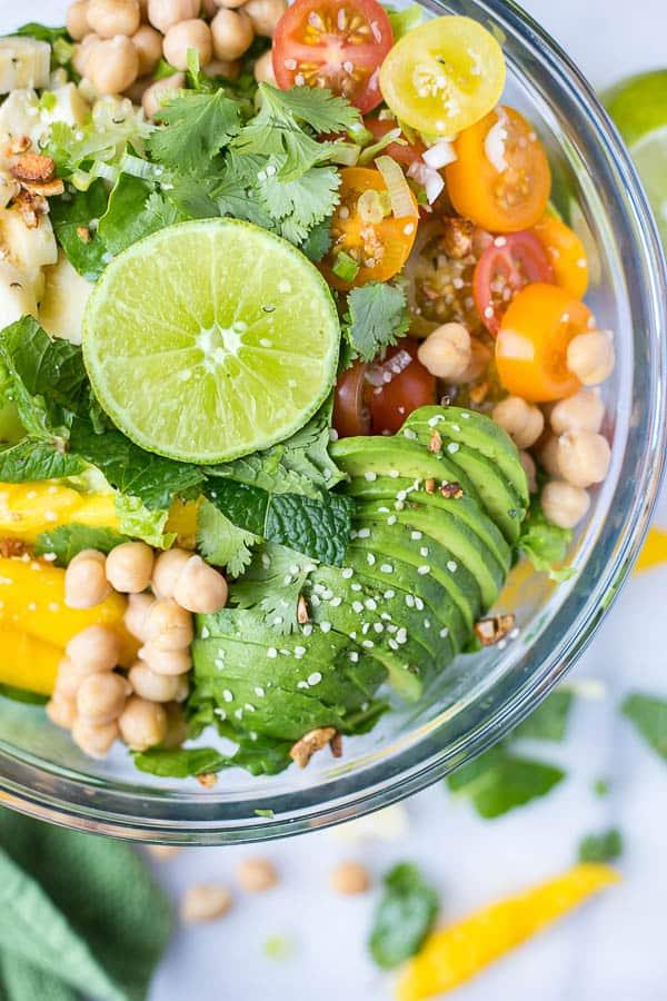 Caribbean Rainbow Salad - vegan lunch ideas