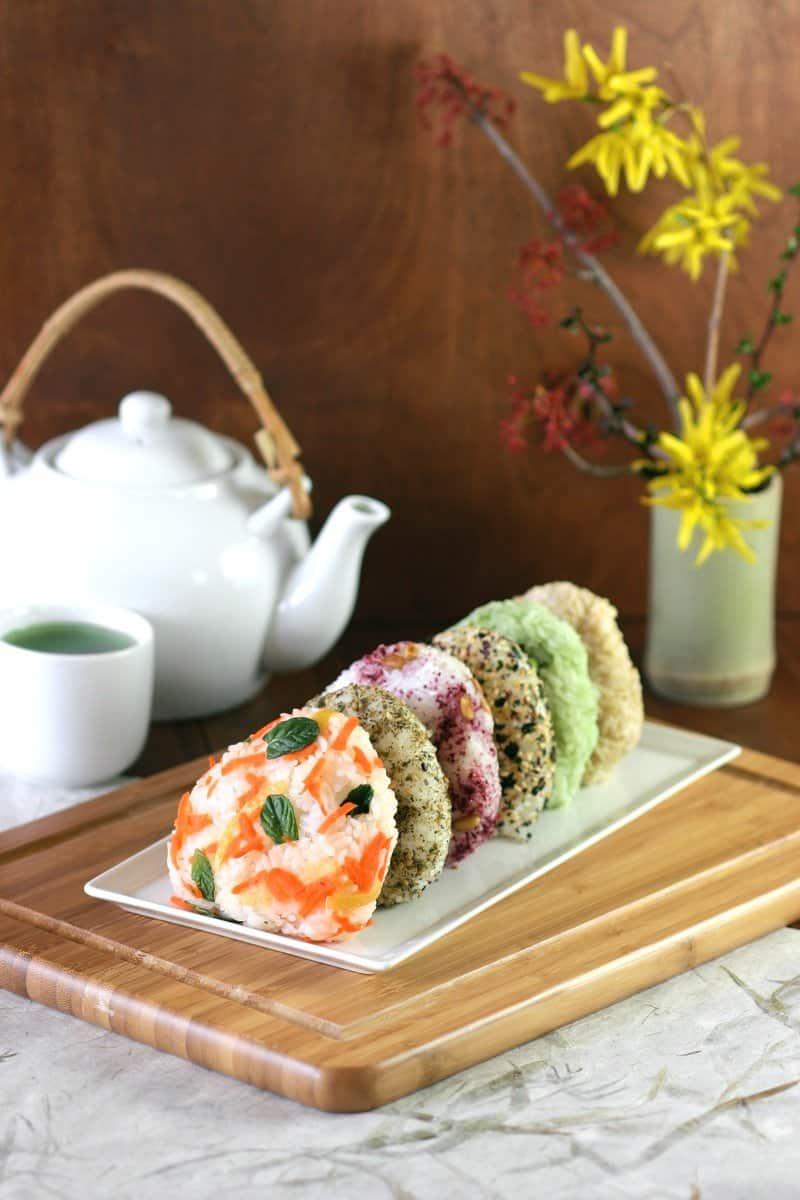 Vegan lunch box onigiri