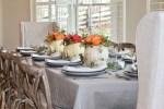 """A """"White Pumpkin"""" Fall Table Setting"""