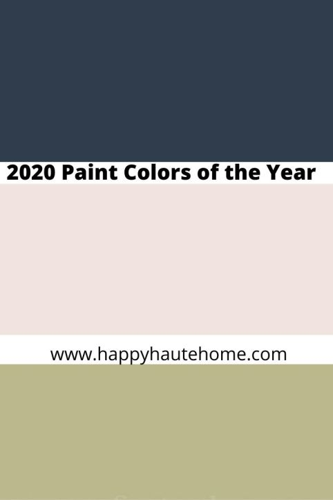2020 Paint Colors of the Year