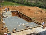Building a Swimming Pool (Step 2) - Laying Gravel and Framing the Spa