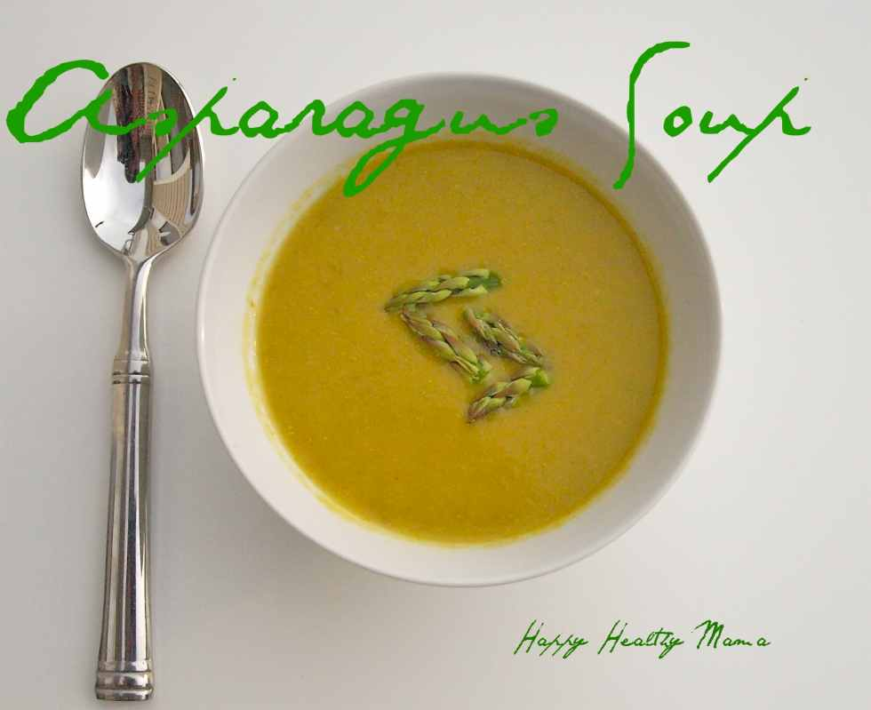 Asparagus Soup--a perfect clean-eating spring soup recipe!