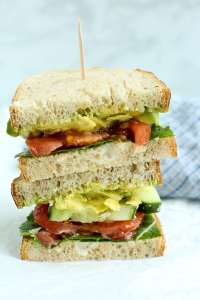 The Best Veggie Sandwich stacked up