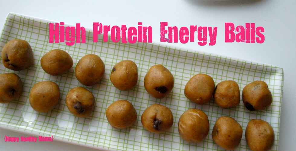 "High Protein Energy Balls (aka ""peanut butter balls"") A quick and healthy snack!"