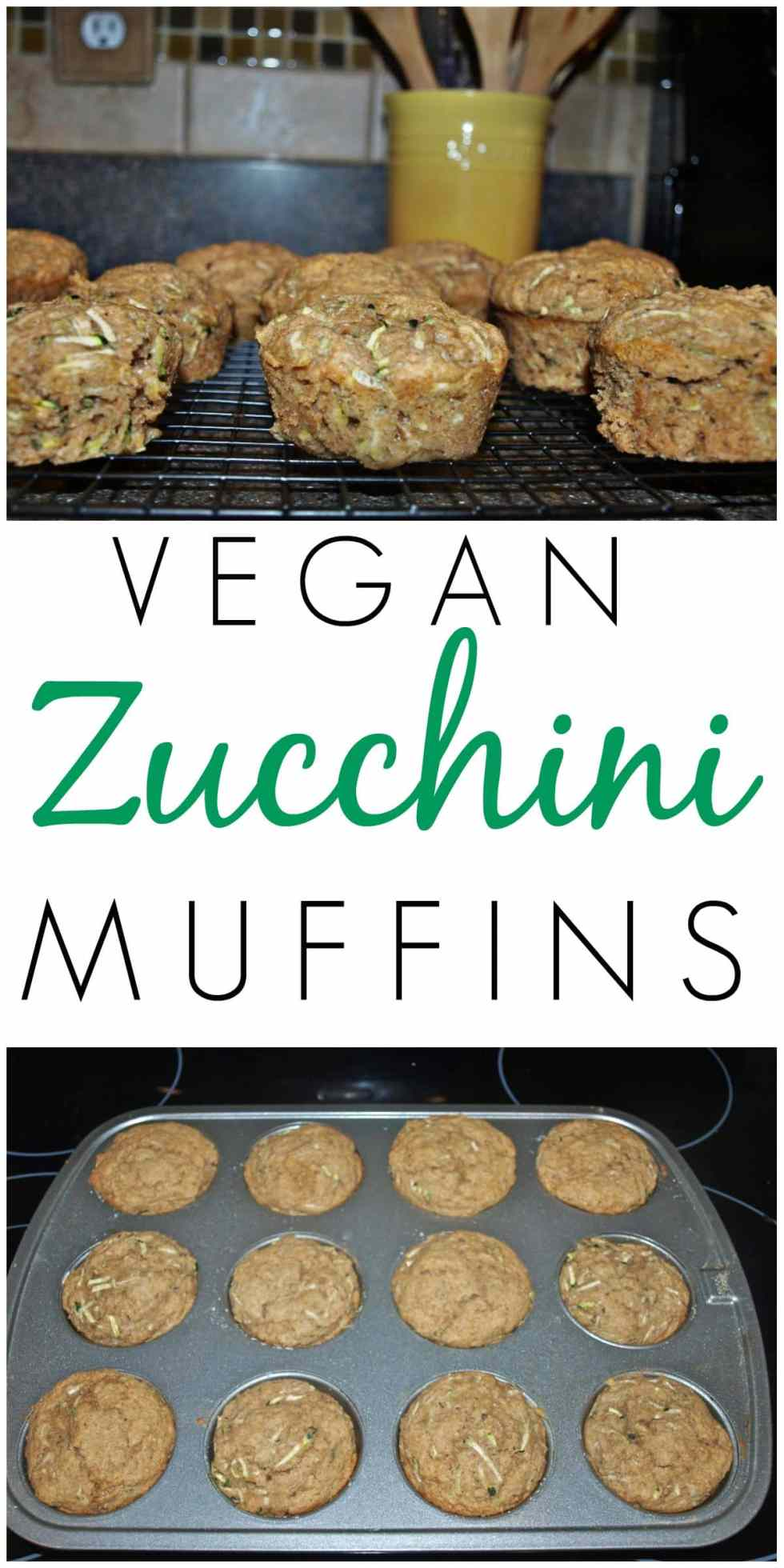Healthy Vegan Zucchini Muffins recipe! These muffins are a great way to use up all your garden zucchini and even the kids love them!