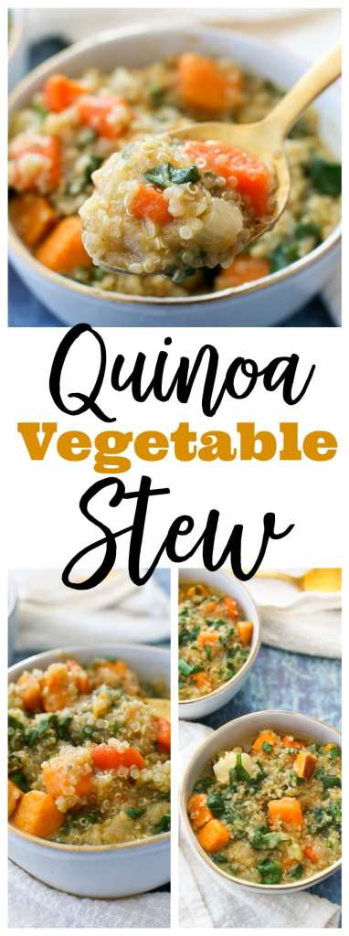 quinoa vegetable stew recipe #vegan #glutenfree #healthy #weeknightdinner