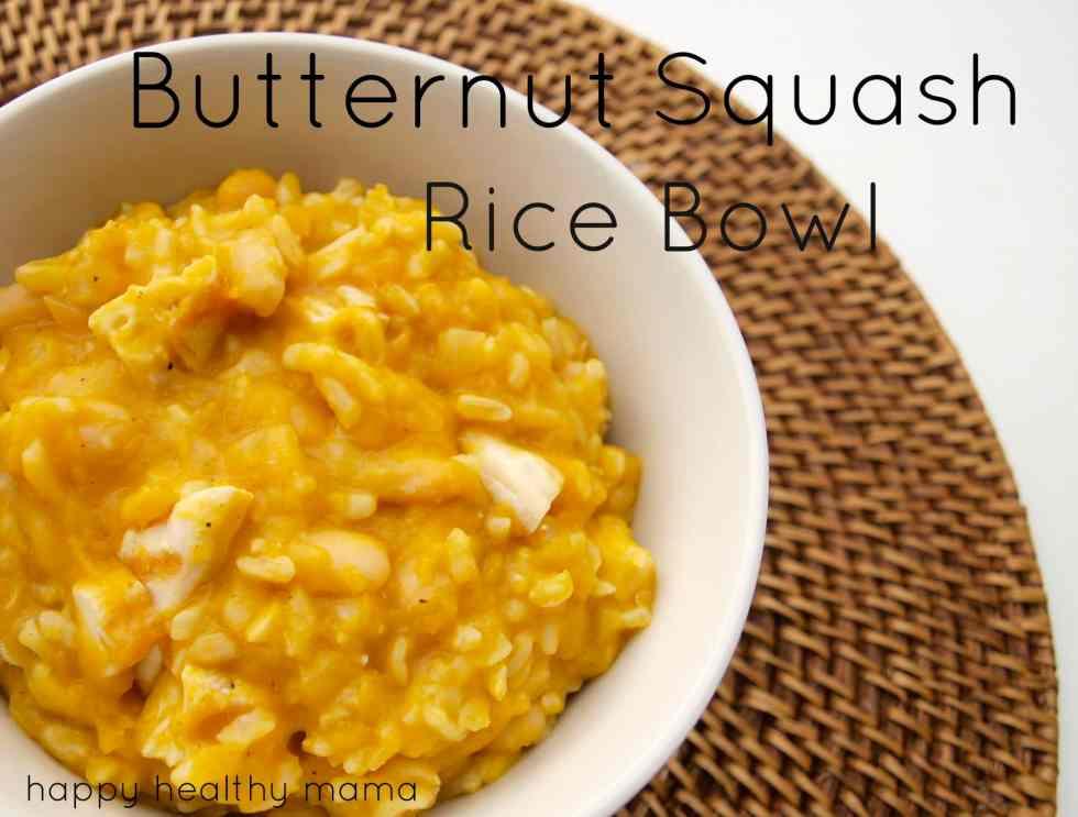 Butternut squash rice bowl recipe
