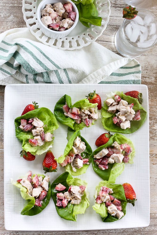Strawberry Chicken Lettuce Wraps recipe healthy chicken salad