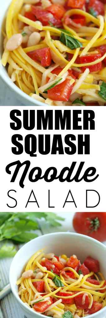 """Summer Squash Noodle Salad Recipe. Have you tried vegetable noodles yet? These summer squash """"noodles"""" make a tasty and healthy side dish that takes just minutes to make."""