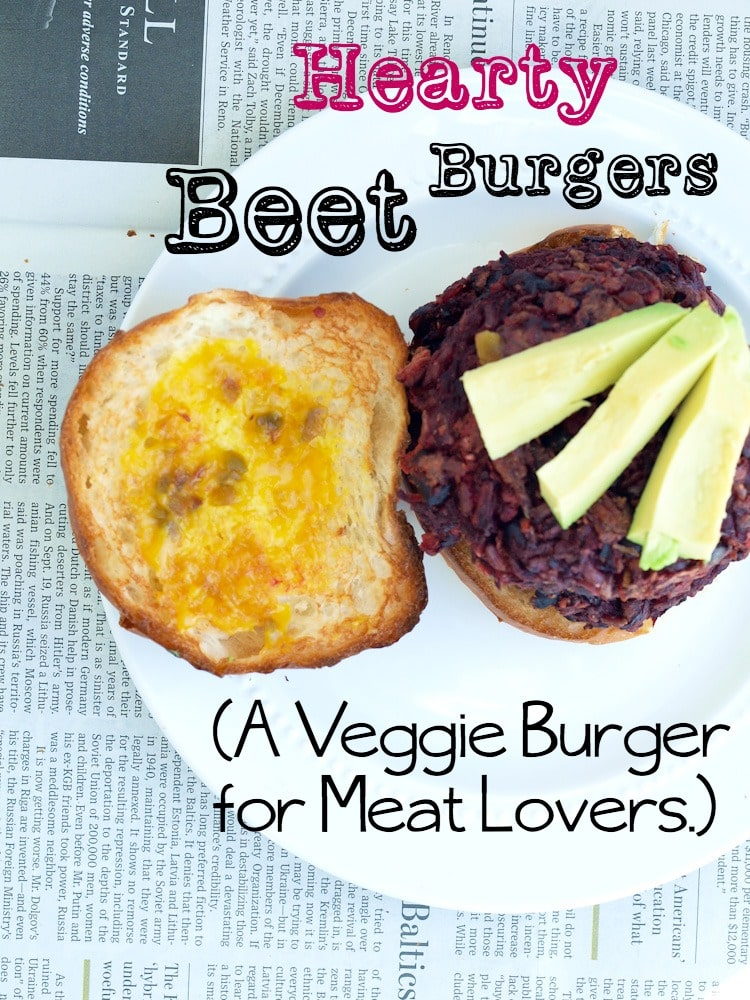 Hearty Beet Burger Recipe