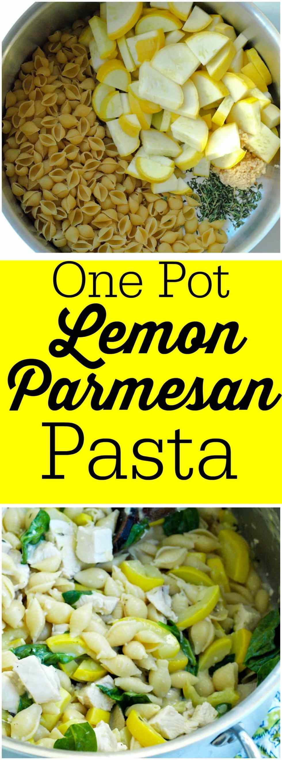 This One Pot Lemon Parmesan Pasta recipe can be on your dinner table in less than 20 minutes! Easy, clean eating recipe.