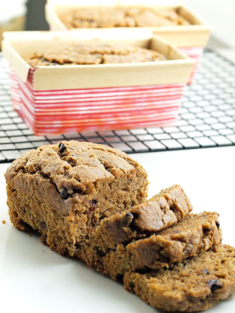 Almond Butter Banana Bread with Chocolate Chips. This banana bread is so moist! It's made with whole wheat flour and less sugar than normal banana bread, but you would never know it!! My kids ate this up so quickly!