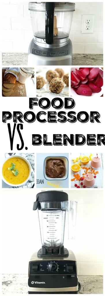 Healthy eating is so much easier with the right kitchen appliances! But which one should you invest in? A professional blender like a Vitamix? Or a Cuisinart Food Processor? Come and see which one I can't live without.