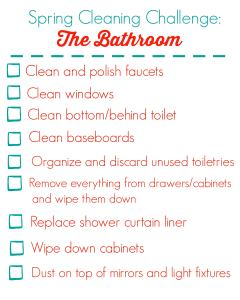 Spring Cleaning Checklist for the Bathroom