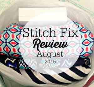 Stitch Fix Review: August 2015