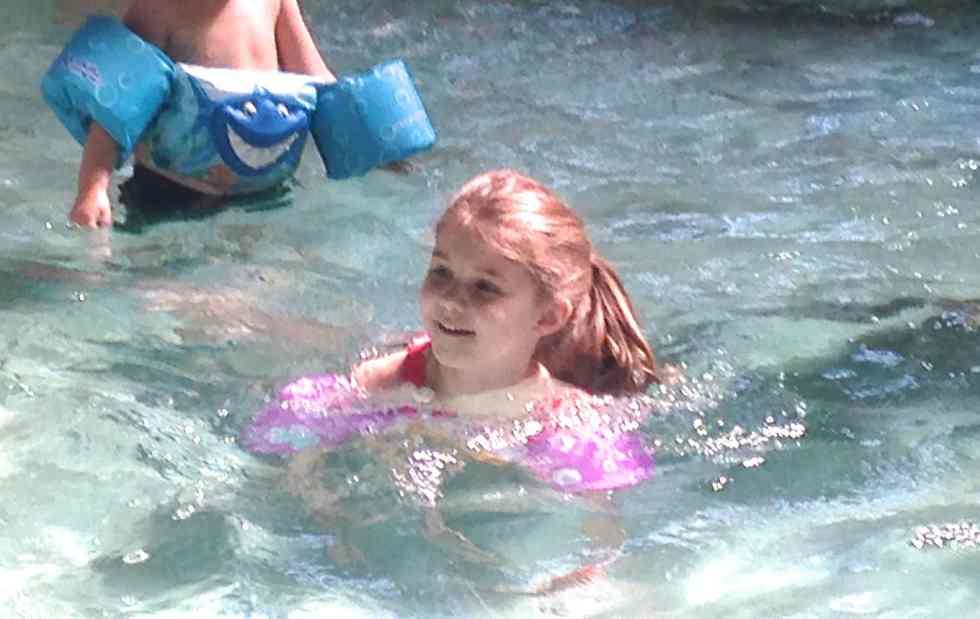 MeghanSwimmingWithFloatie