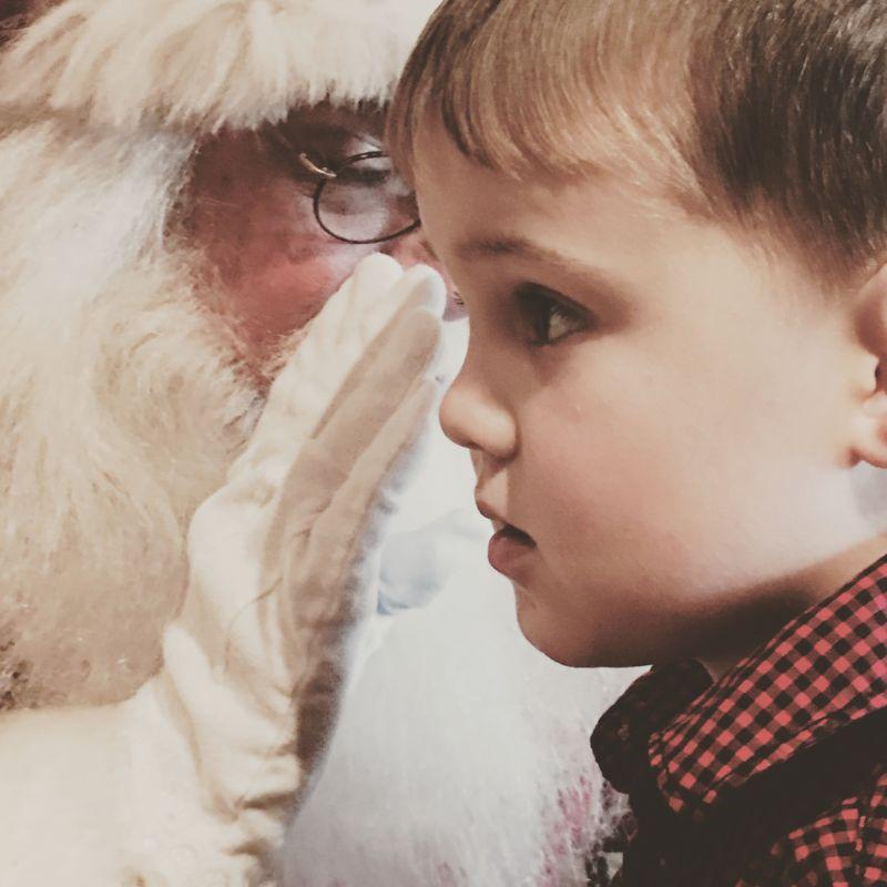 Santa with Luke Happy Healthy Mama