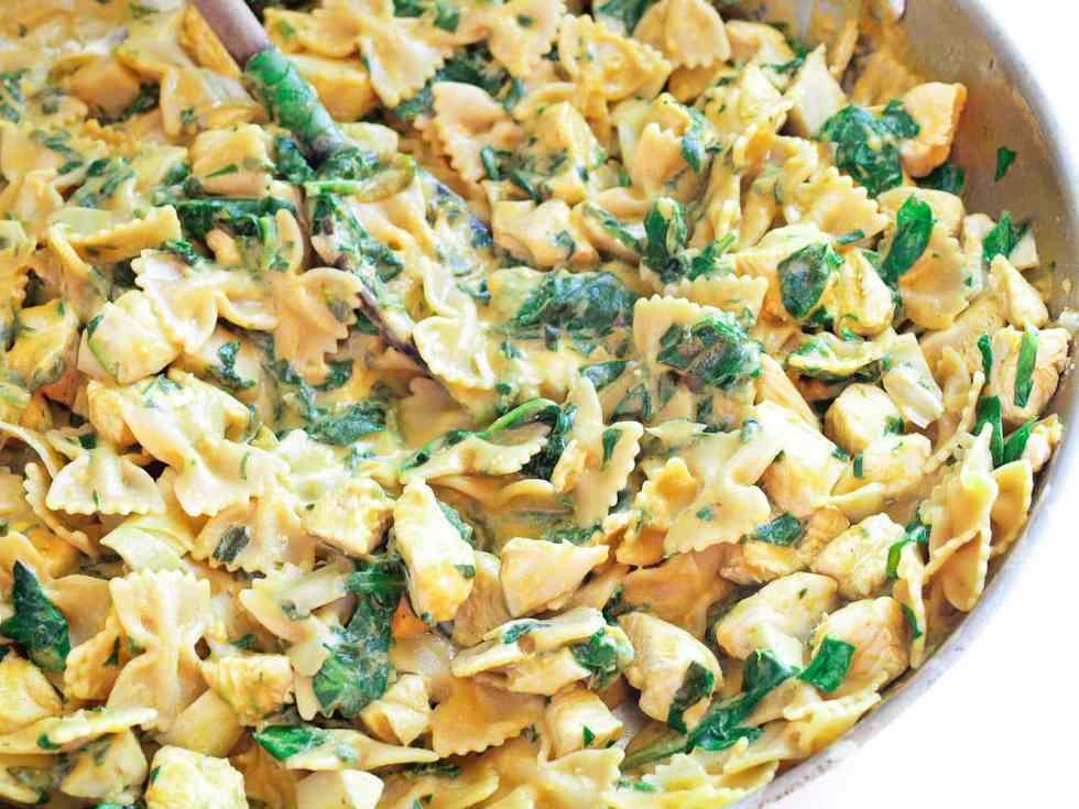Spinach-Artichoke-Pasta