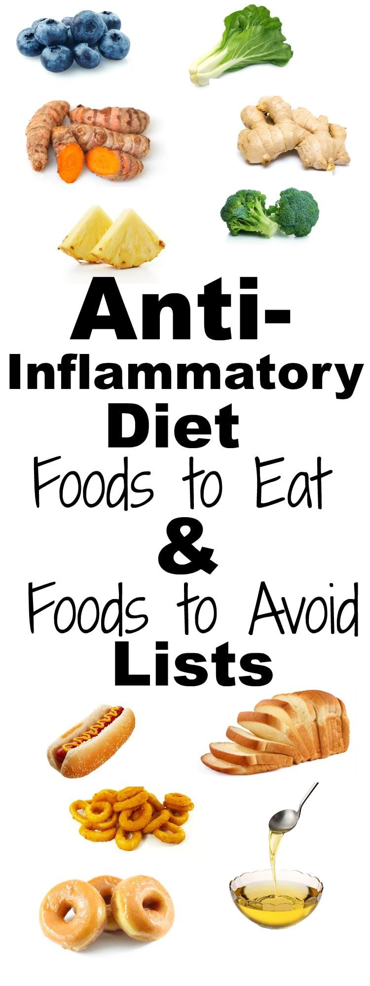 anti inflammatory diet list