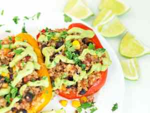 Crock-Pot® Mexican Vegan Stuffed Peppers Slow Cooker Recipe