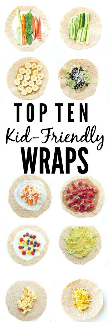 Healthy and kid-friendly wraps. All the recipes and inspiration you need to make healthy lunches for your kids with these healthy wrap ideas.
