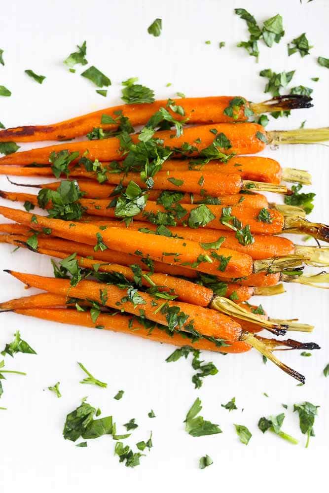 Honey Mustard Roasted Carrots
