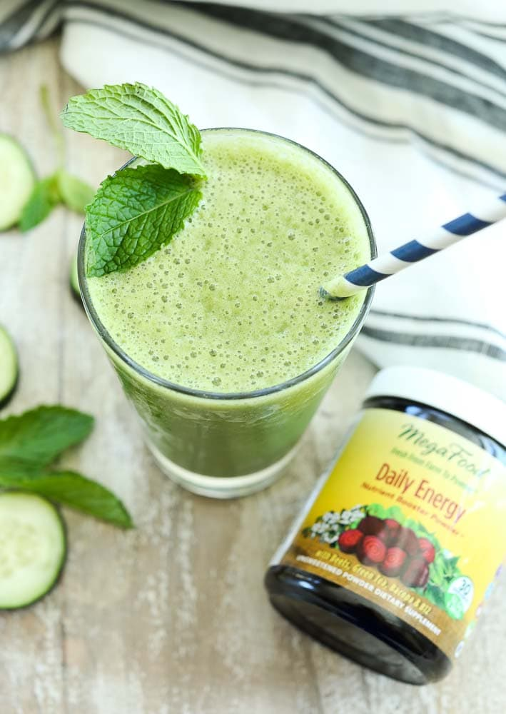 Energizing Cucumber Mint Smoothie Recipe