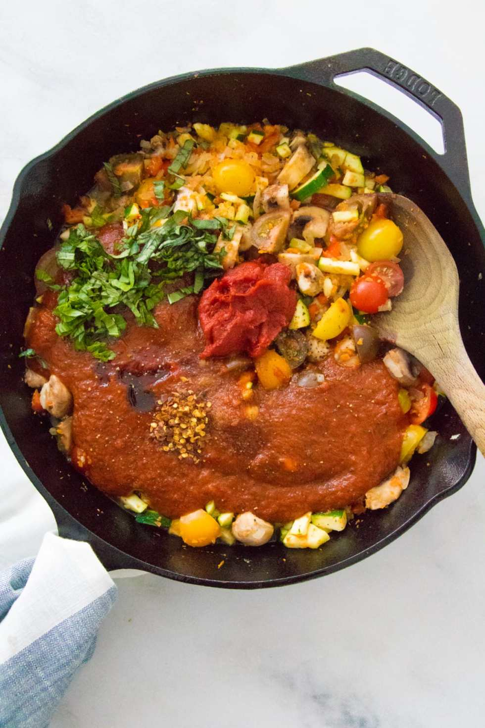 Bell Pepper Recipes: Spicy Red Lentil Veggie Pasta Sauce