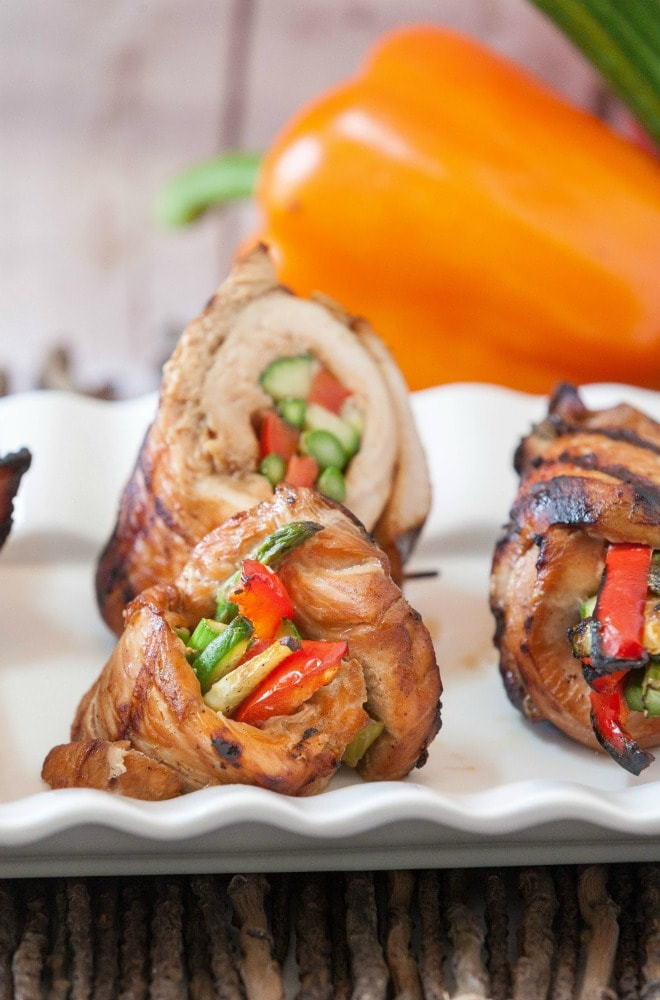Recipes with Bell Peppers: Grilled Korean Turkey Roll Ups