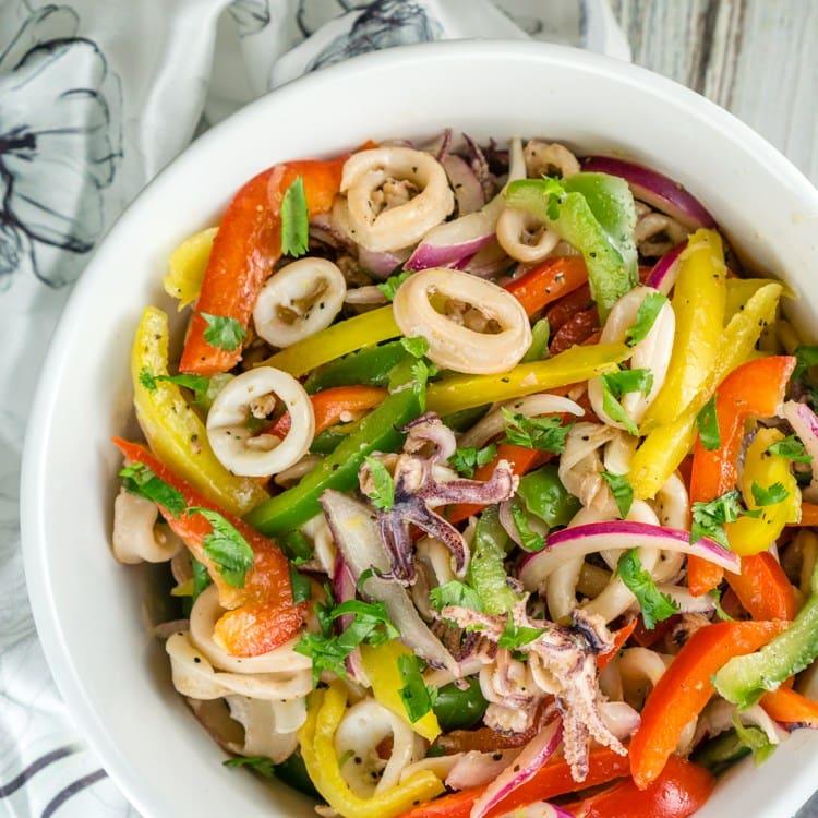 Bell Peppers Recipes: Calamari Salad