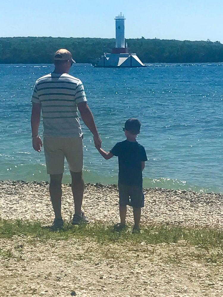 Northern Michigan Vacation--Mackinac Island lake views