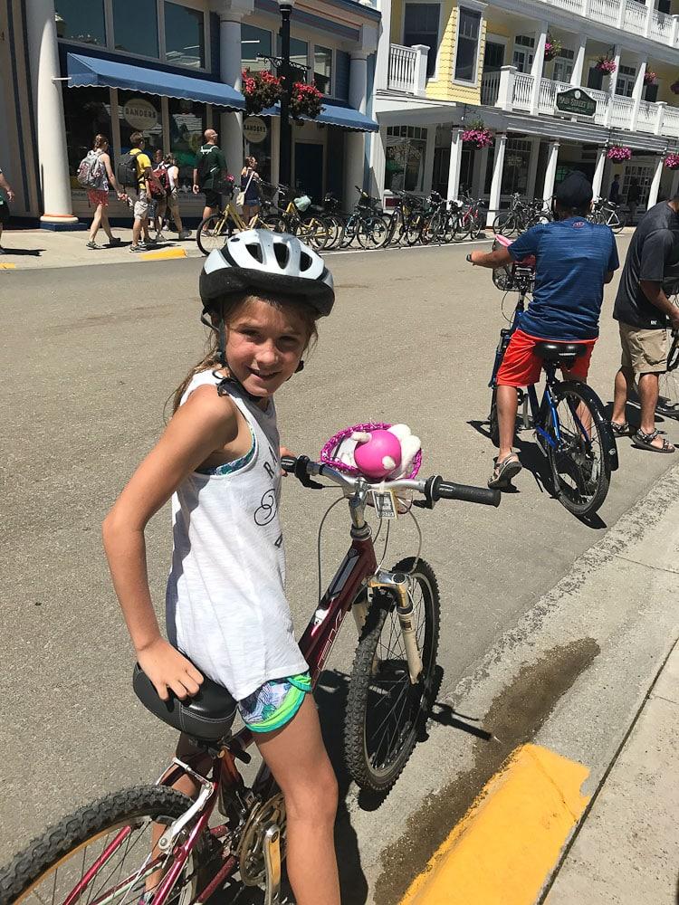 Northern Michigan Vacation-Mackinac Island on bikes