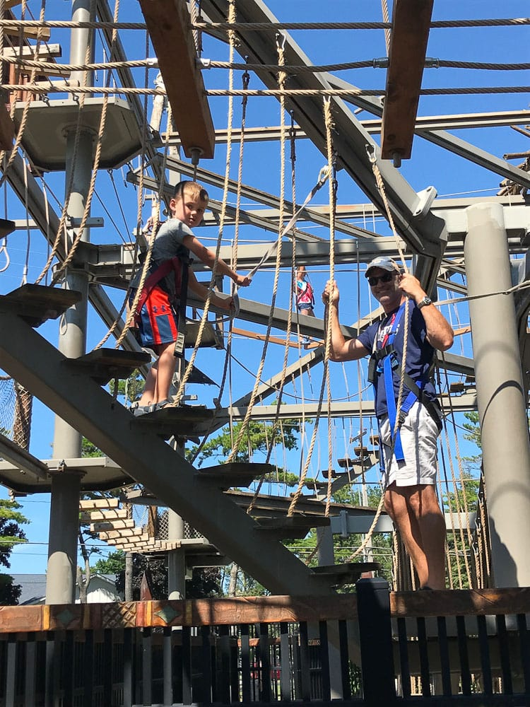 Northern Michigan vacation--Traverse City ropes course