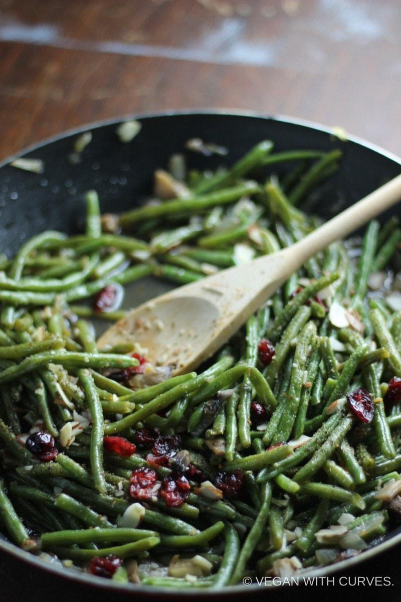 Green Bean Recipes--Cranberry Almond Green Beans