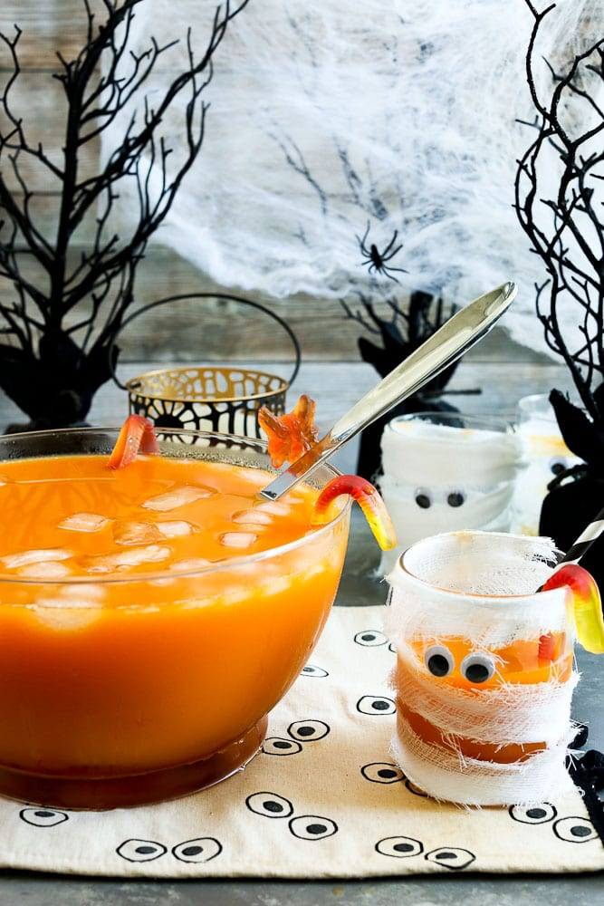 Creepy Halloween Punch for Halloween Party for kids NO added sugar or artificial dyes