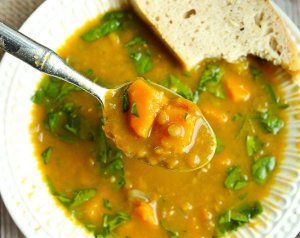 Slow Cooker Butternut Squash Lentil Soup
