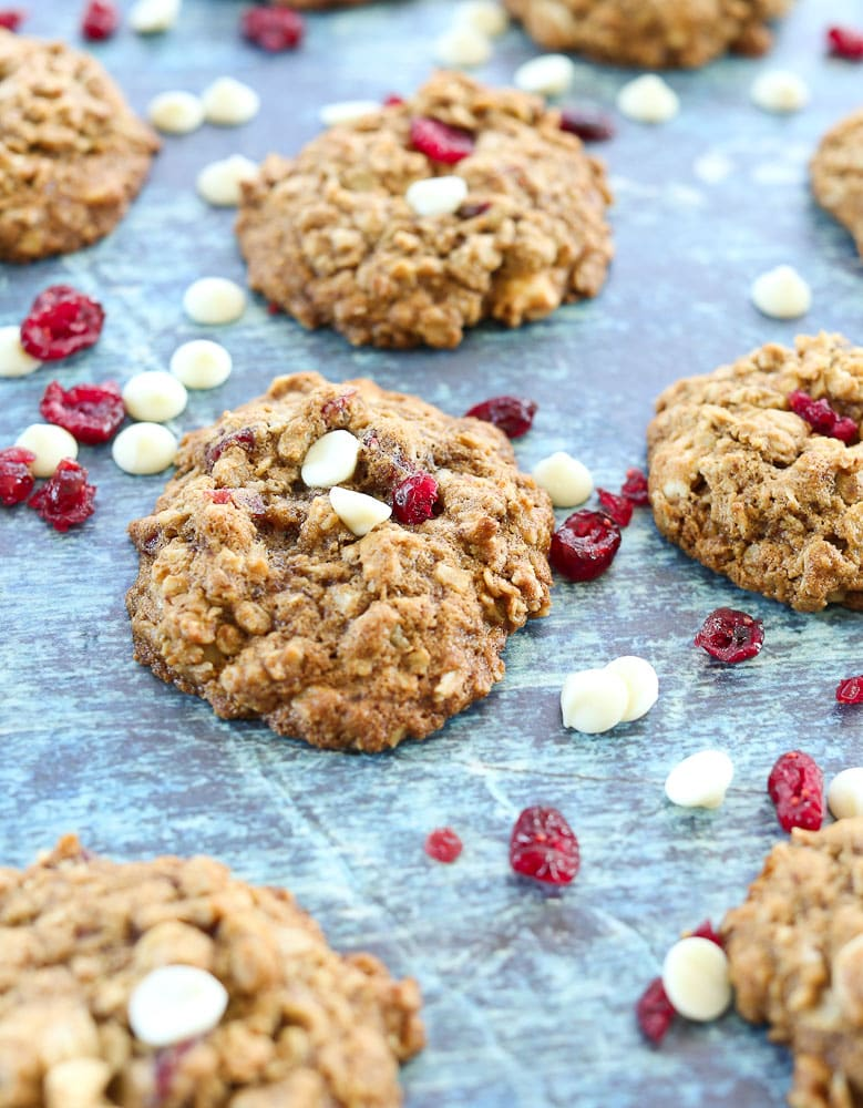 Cranberry White Chocolate Chip Oatmeal Cookies recipe