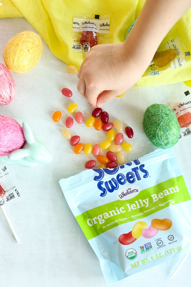 Easter Scavenger Hunt Free printable with clues Wholesome Surf Sweets jelly beans
