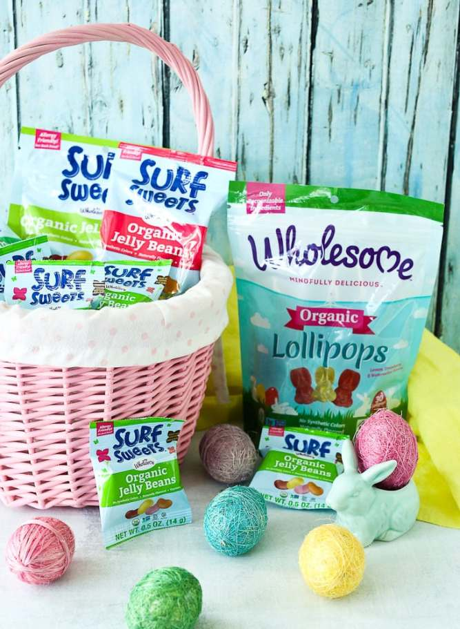 Easter Scavenger Hunt free printable with clues Easter basket with organic healthy candy