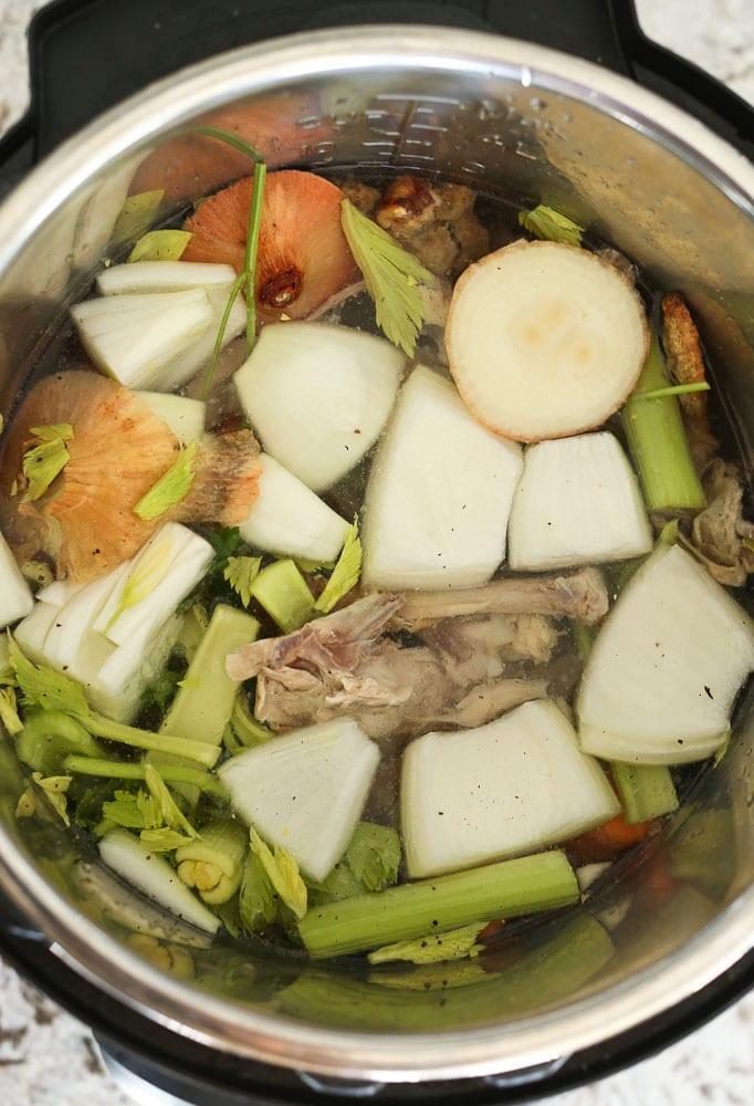 Instant Pot Bone Broth how to make recipe