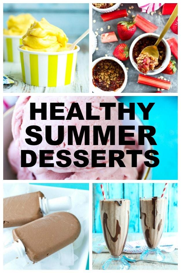 Healthy Summer Desserts Recipes! #healthy #summer #desserts #vegan #paleo #dairyfree #glutenfree #healthyrecipes #healthydesserts