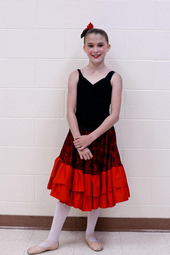 June Favorites Meghan dance recital red and black costume