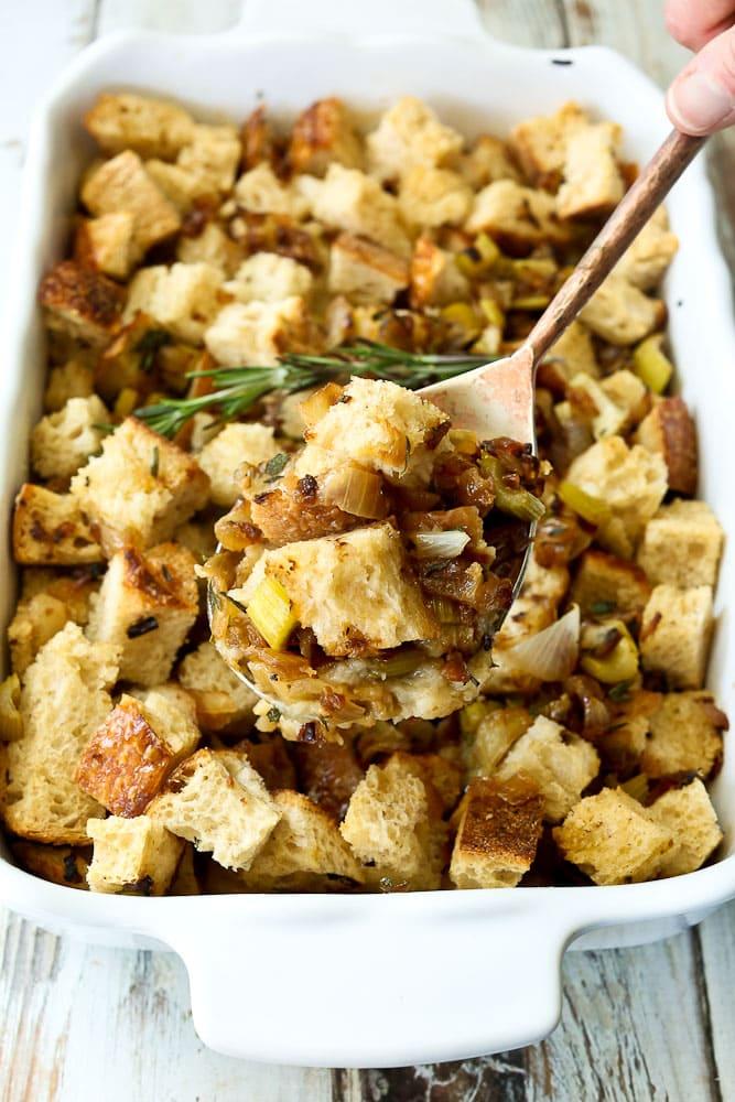 easy Sourdough stuffing recipe serving