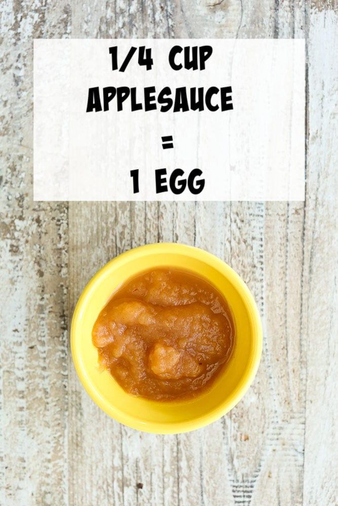 Vegan Egg Substitutes-applesauce