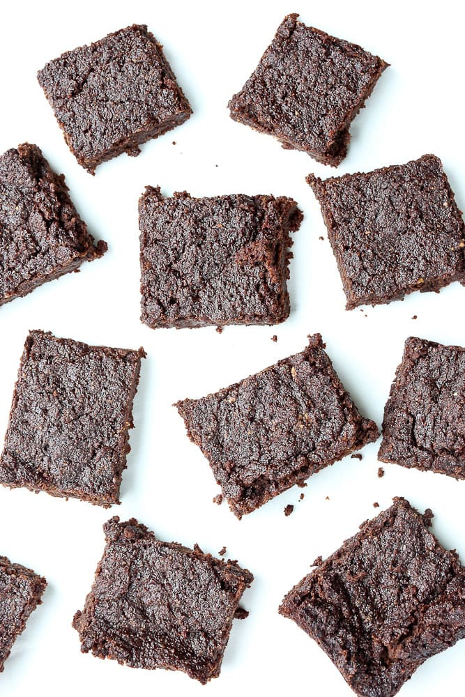Keto brownies with almond flour vegan and gluten free