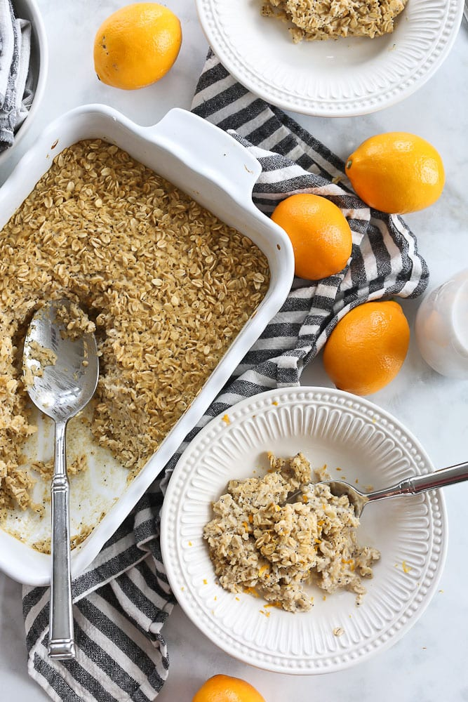 Lemon Poppyseed Baked Oatmeal recipe