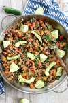 Mexican Quinoa Skillet Dinner recipe vegan and gluten free