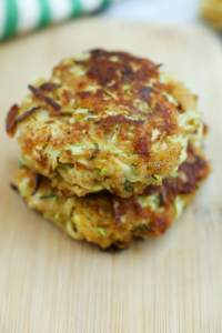 Zucchini Cakes Recipe stacked up