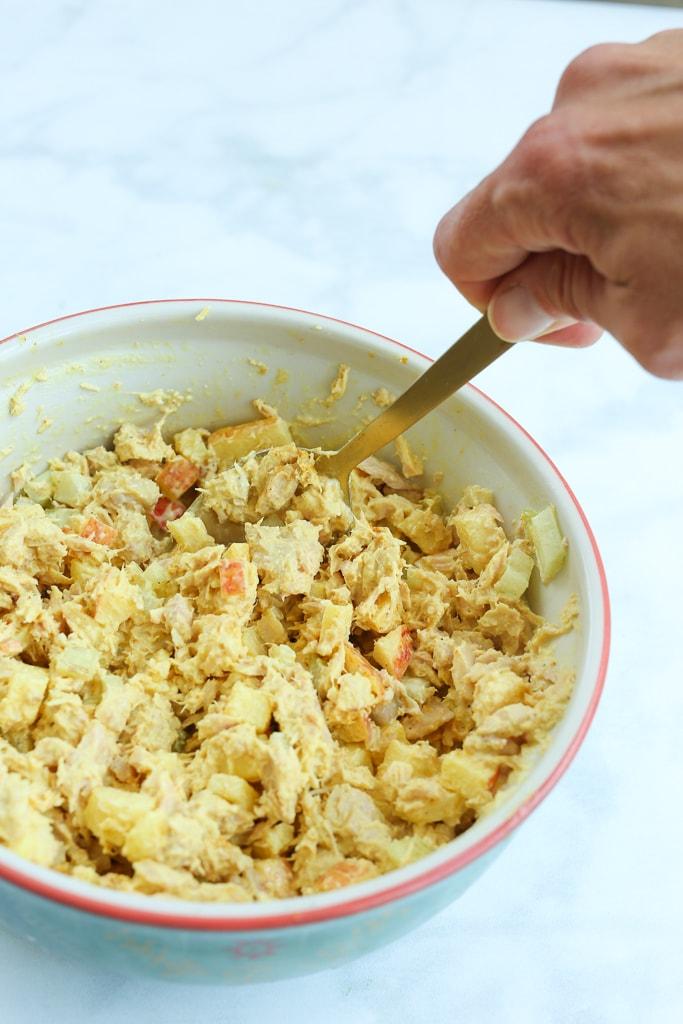 Curried Tuna Tomato Salad recipe step 1