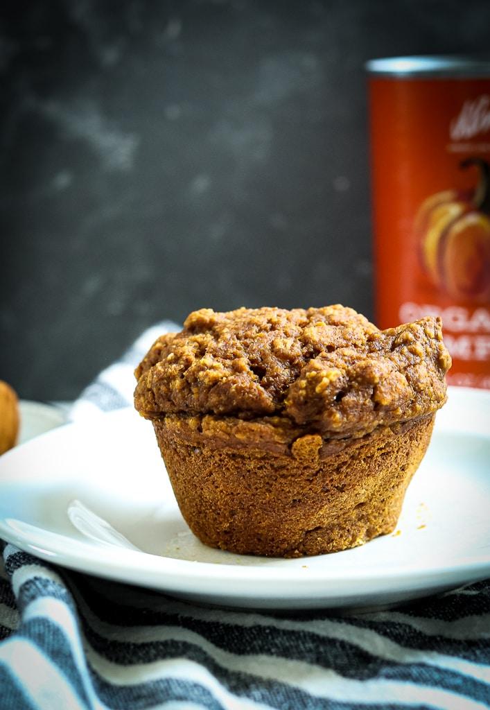 Gluten-Free Pumpkin Muffins Recipe side shot
